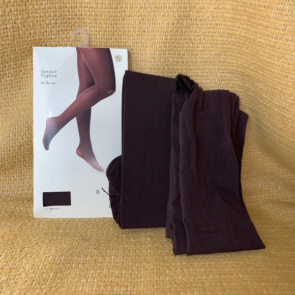 Womens a new day Brown Opaque Tights 3pk sz M/L
